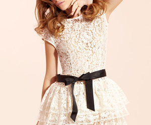 beautiful, bow, and lace image