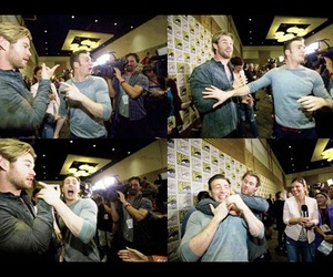 Avengers, comiccon, and chris hemsworth image