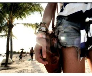 beach, watch, and girl image