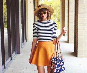skirt, sunglasses, and girl image
