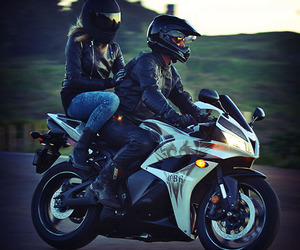 motorbike and love image