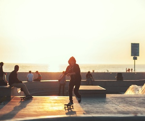 skate, skater, and sunset image