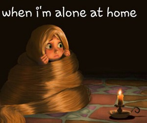 alone, disney, and funny image