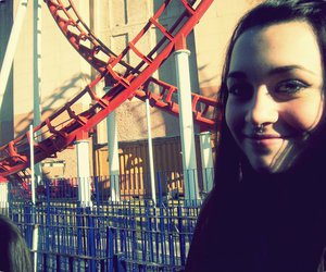 girl, rollercoaster, and by:mai image