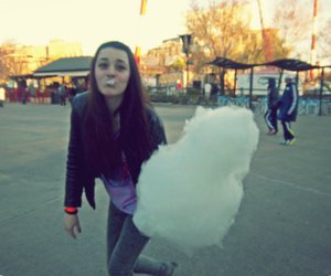 cotton candy, girl, and by:mai image