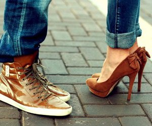 shoes, couple, and heels image