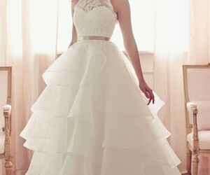 ball gown, white, and fashion image