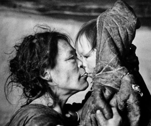 black and white, inuit, and people image
