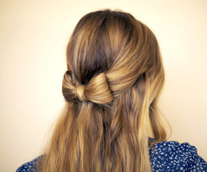 hair, bow, and hairstyle image