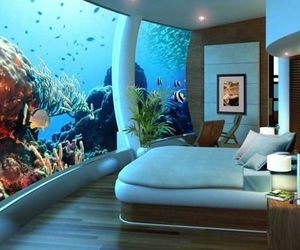 aquarium, awesome, and bedroom image