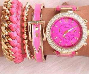 pink, style, and watch image