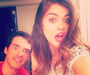 lucy hale, pll, and ian harding image