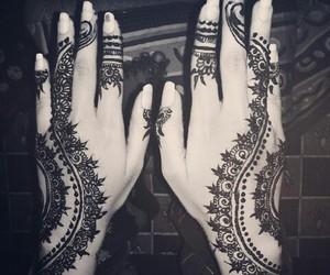 girly, henna, and mehendi image