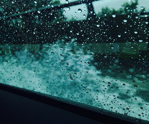 rain, water, and in the car image