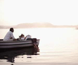 couple, summer, and boat image