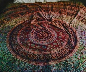 bed, hippie, and indie image