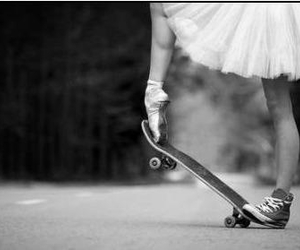 skate, ballet, and girl image