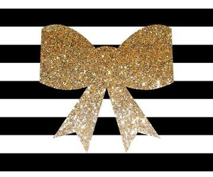 wallpaper, gold, and bow image