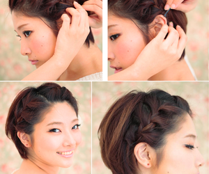braids, short hair, and hair inspirations image