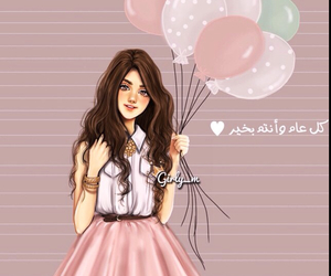 girly_m, balloons, and drawing image