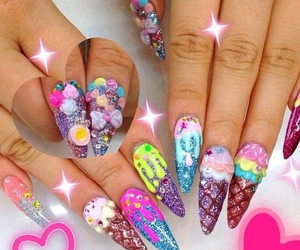 girly, kawaii, and nails image