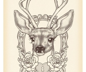 deer, tattoo, and art image