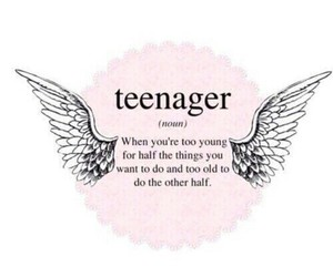 teenager, quote, and definition image