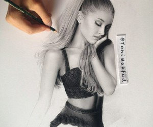 ariana grande, drawing, and draw image
