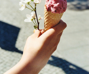 flowers, ice cream, and summer image