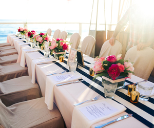 flowers, wedding, and table image