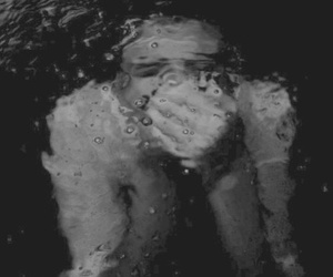 water and black and white image