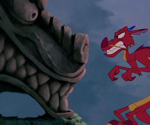 mulan, disney, and dragon image
