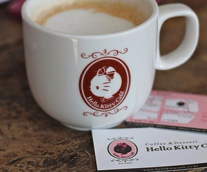 cafe, coffee, and hello kitty image