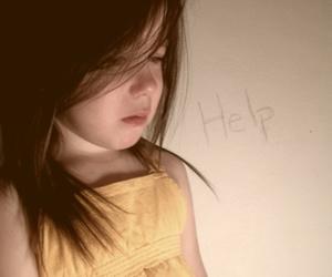 baby, girl, and sad image