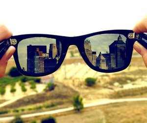 city, glasses, and sunglasses image