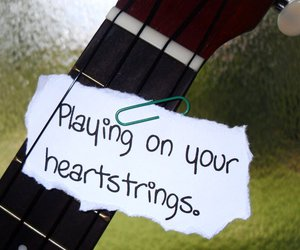 guitar, strings, and playing image