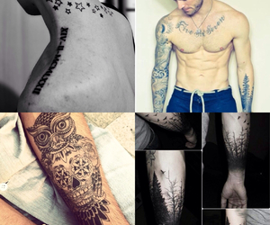 tatto, Tattoos, and chest tattoos image