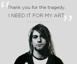 kurt cobain, nirvana, and art image