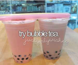 bubble, drink, and tea image
