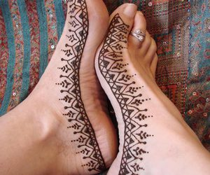 design, indian, and foot image