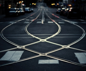 night, san francisco, and rails image