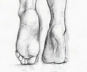 art, draw, and feet image