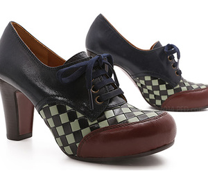checkerboard, chic, and heels image