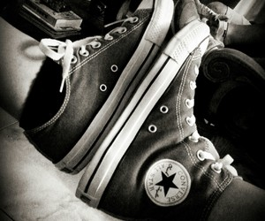 chuck taylor, converse, and grey image