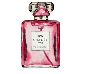 chanel, perfume, and pink image