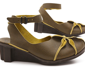 ankle strap, brown, and flower image