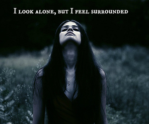 alone, girl, and surrounded image