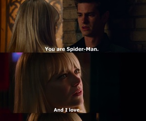 emma stone, spiderman, and peter parker image