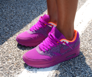 purple, nike, and air max image