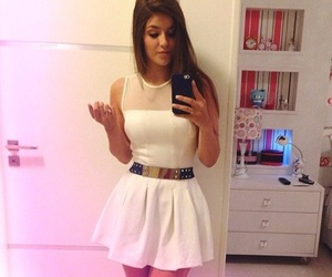 dress, white, and iphone image